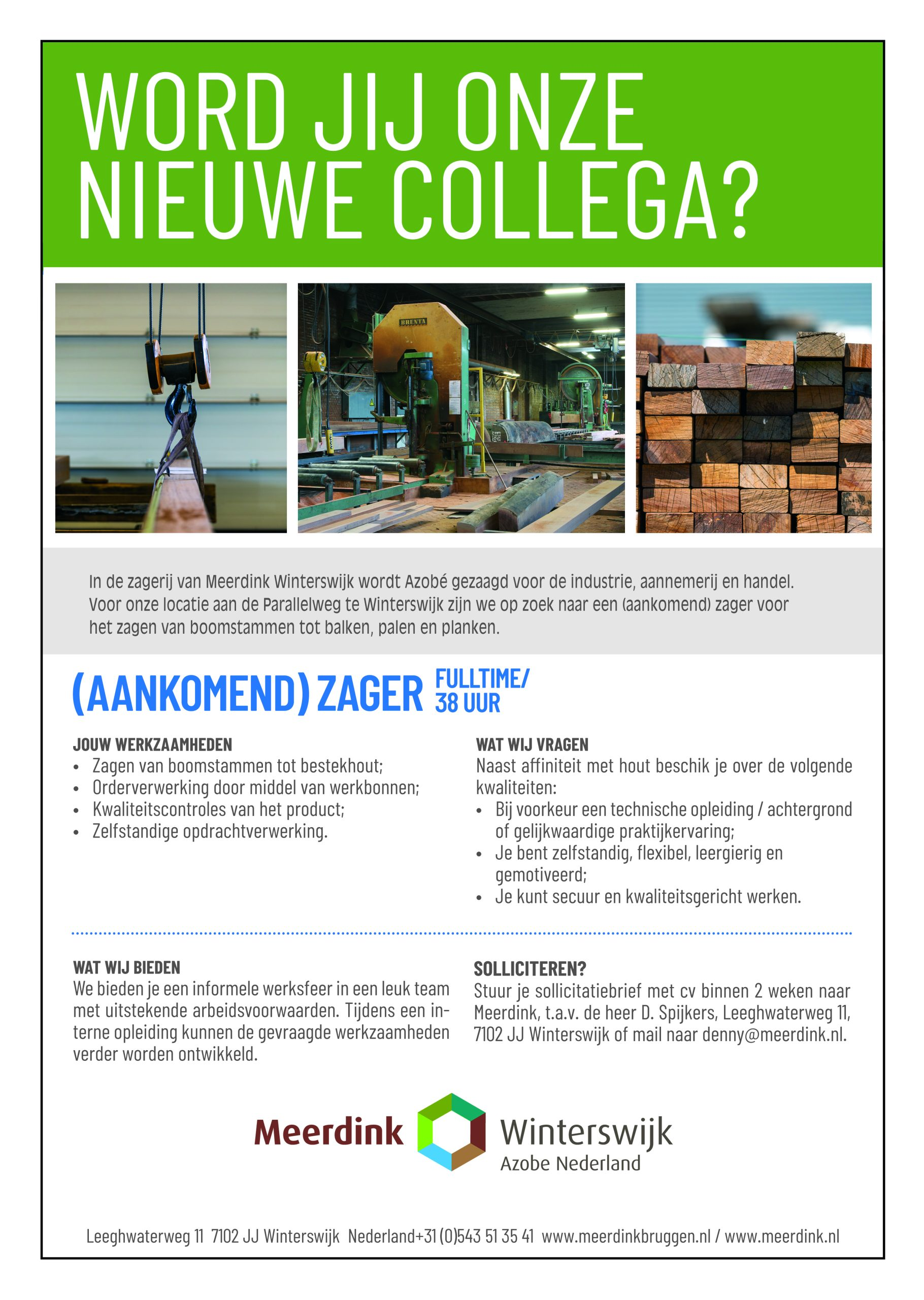 vacature houtzager